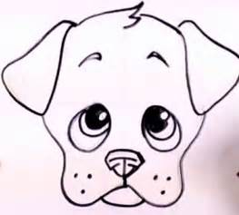 Easy to Draw Cute Dog Drawings
