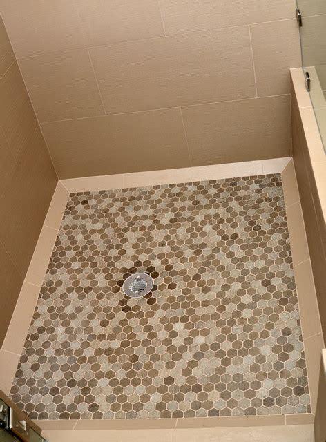 shower floor contemporary bathroom seattle   tile
