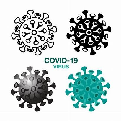 Virus Covid Germ Icon Coronavirus Clip Germs