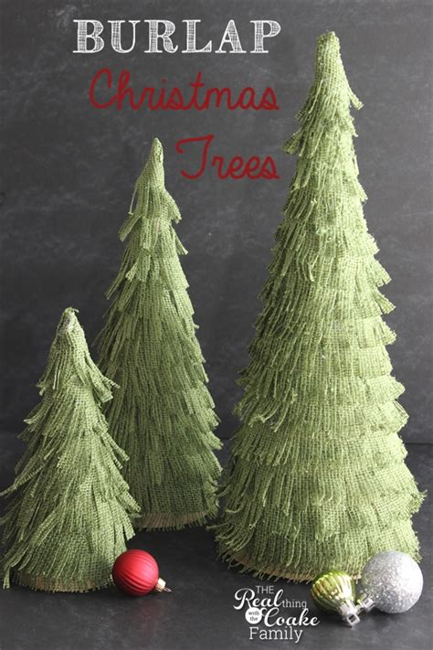 christmas crafts make your own adorable burlap christmas trees