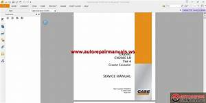 Case Excavator Cx250c Service Manual