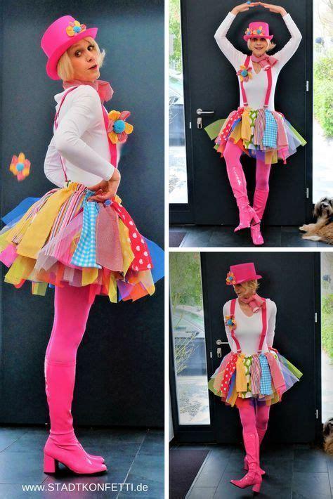 farbenfrohe harlekina karneval kostuem fuer damen