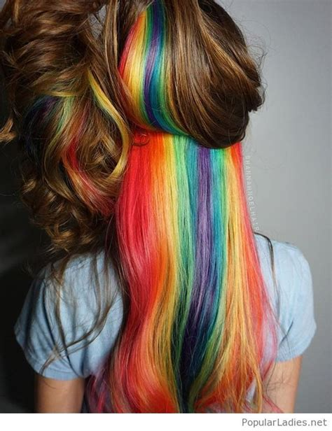 Wonderful Rainbow Hair Colors Hidden In Brown Hair Color