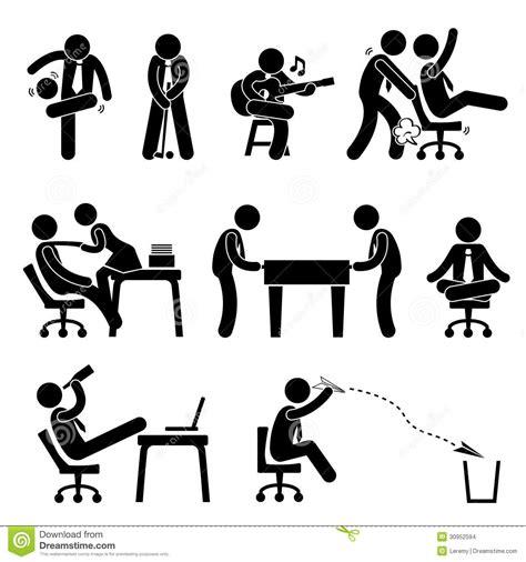 pictogramme bureau pictogramme d 39 amusement de bureau de travailleur des