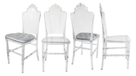 chaise plexi transparente lot de 4 chaises segovi design en plexi transparent mobilier moss