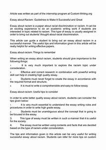 high school persuasive essay examples 025 racism essay example racial discrimination essays on
