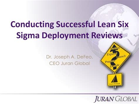 conducting successful lean  sigma deployment reviews