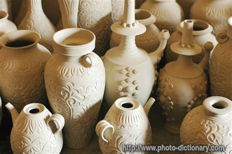 pottery jugs photopicture definition  photo dictionary pottery jugs word  phrase