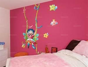 stickers geant chambre fille sticker chambre les animaux With chambre bébé design avec coeur fleurs artificielles