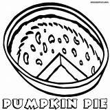 Pie Coloring sketch template