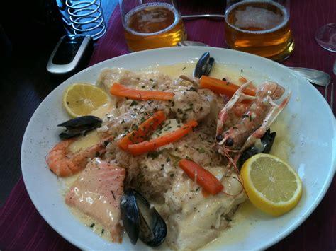 la cuisine de la mer choucroute de la mer hôtel restaurant la broche d 39 argent