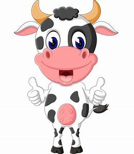 Cartoon baby cow vector illustration 08 - Vector Animal ...