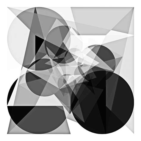 Abstract Geometric Shapes Black And White by Quot 369 Grayscale Quot Black White Abstract Geometric Pattern