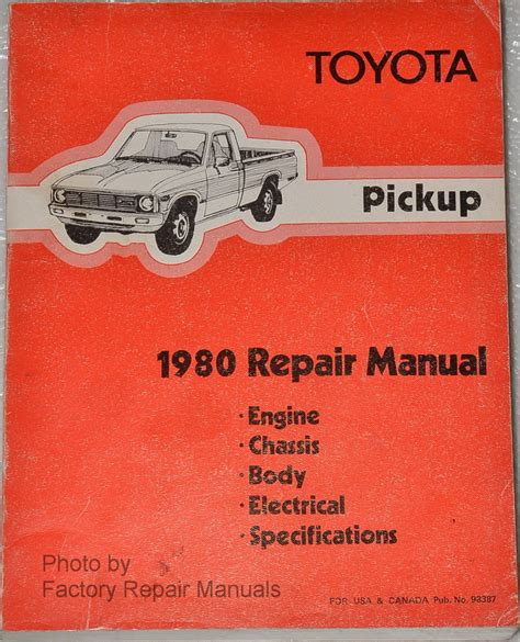 old cars and repair manuals free 1985 toyota mr2 electronic valve timing 1980 toyota pickup truck factory shop service repair manual factory repair manuals