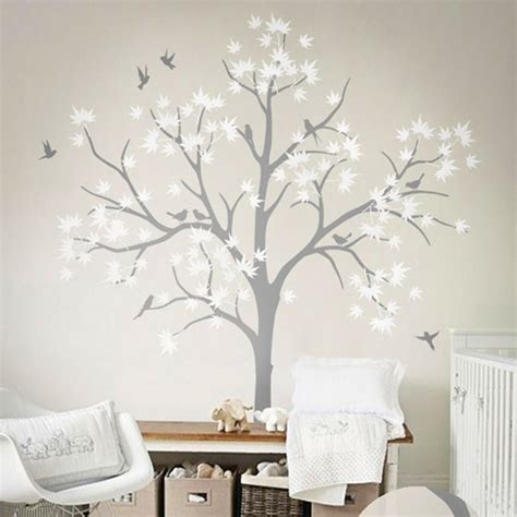 White Tree Wall Decal For Nursery Thenurseries