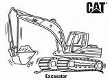 Coloring Caterpillar Excavator Printable Ausmalbilder Machines Colouring Loader Excavators Truck Bagger Backhoe Kinder Skid Drawing Printables Birthday Activities Outline Sketch sketch template