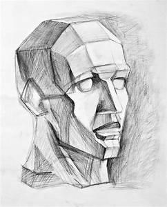 Kunst Zeichnungen Bleistift : bild linie zeichnung schattierung kopf von maxim grau bei kunstnet ~ Yasmunasinghe.com Haus und Dekorationen