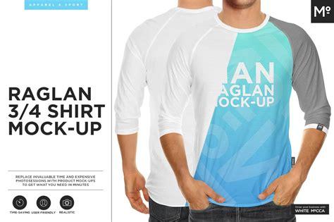 All files consist smart layers for easy edit. Raglan 3/4 Shirt Mock-up ~ Product Mockups ~ Creative Market