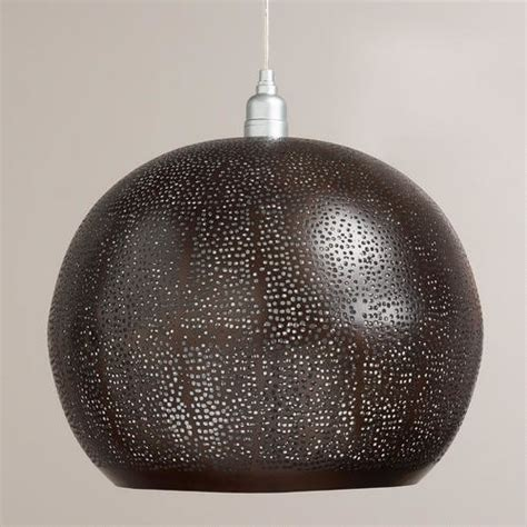 bronze perforated hanging pendant l pendant lighting