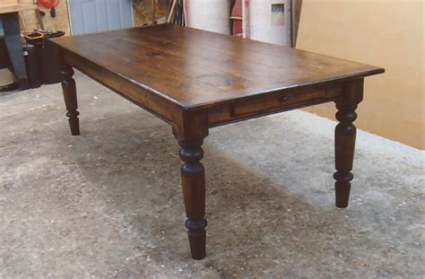 turned leg farmhouse table farmhouse table with standard turned legs optional end