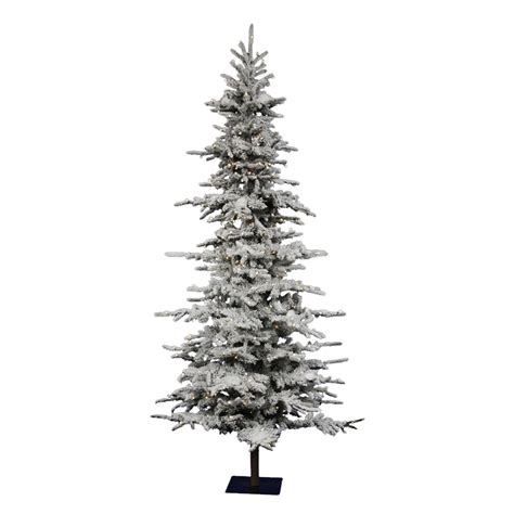 shop vickerman 7 5 ft pre lit georgian fir slim flocked