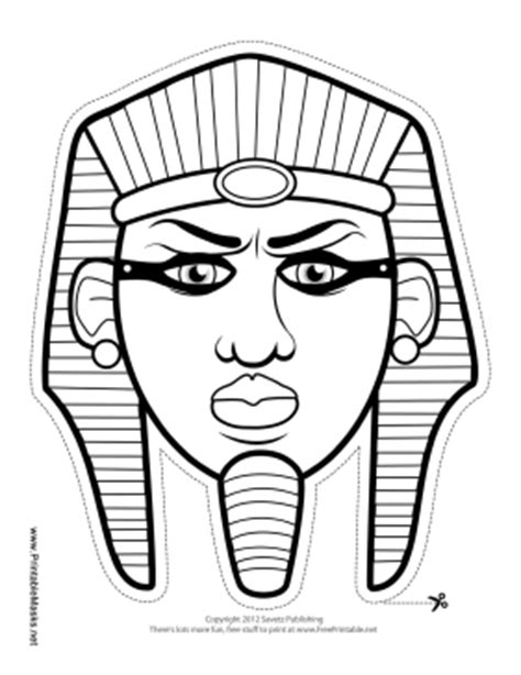 Ancient Mask Template by Printable Pharaoh Mask To Color Mask