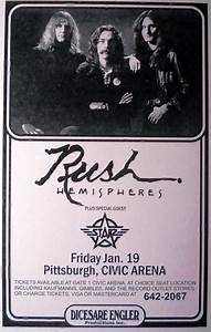 11x17 Rush Hemispheres Starz Civic Arena 1979 Tour Live