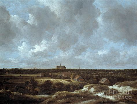 A View Of Haarlem And Bleaching Fields Painting By