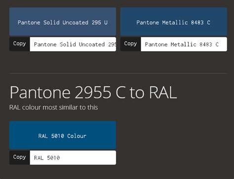 pantone ral color conversion chart ral colour conversion