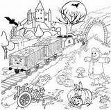 Coloring Thomas Halloween Train Plantation Sheets Template Ausmalbilder James Printable Kostenlose sketch template