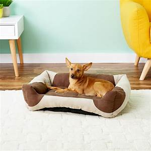 kh pet products classy lounger pet bed tan chocolate With classy dog bed