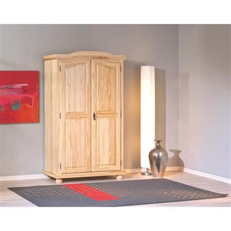 porte de chambre en bois pas cher armoire rustique à 2 portes en bois massif achat vente