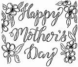 Mothers Mother Card Coloring Happy Flowers Drawing Pages Cards Printable Drawings Easy Mothersday Getdrawings Colorable Kellycreates Own sketch template