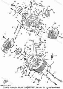Yamaha Motorcycle 2002 Oem Parts Diagram For Cylinder Head