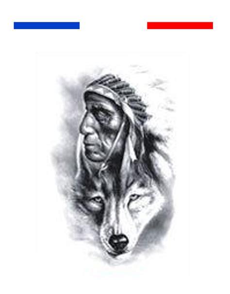 tatouage indien  loup realiste mon petit tatouage