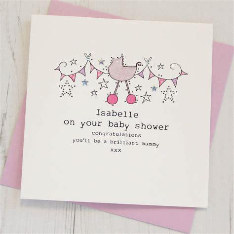 personalised baby shower card  eggbert daisy
