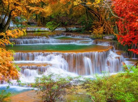 Ebor Waterfall Backgrounds by Waterfall River Landscape Nature Waterfalls Autumn
