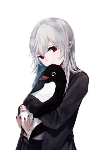 320x480 Anime Wallpaper - 320x480 wallpaper anime white hair