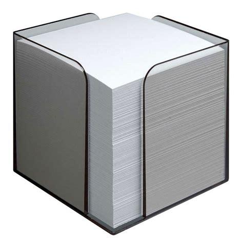 bureau distributeur postal bloc cube transparent avec papier bloc repositionnable
