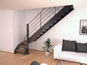 Escalier Double Quart Tournant Pas Cher : acheter un escalier double limons lat raux stairkaze ~ Premium-room.com Idées de Décoration