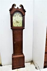 Country, Oak, U0026, Mahogany, 8, Day, Georgian, Grandfather, Clock, For, Sale