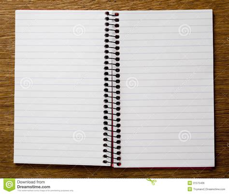 Empty Lined Paper Book Stock Photo Image Of Binder, Book 31575406