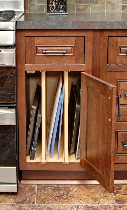 kitchen cabinet tray organizer baking sheet organizer tray cabinet kitchen storage