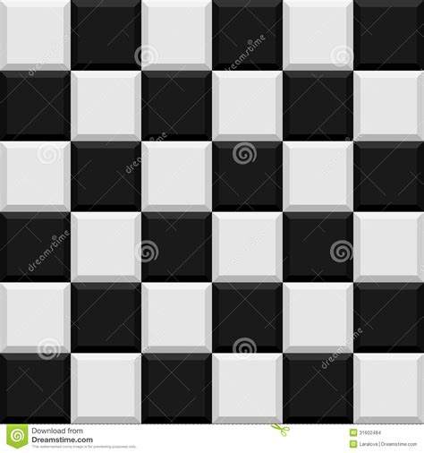 black  white tiles seamless pattern stock images
