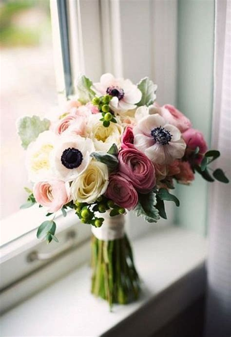 Wedding Bouquets by Wedding Bouquets With Anemones In Season Now Brides