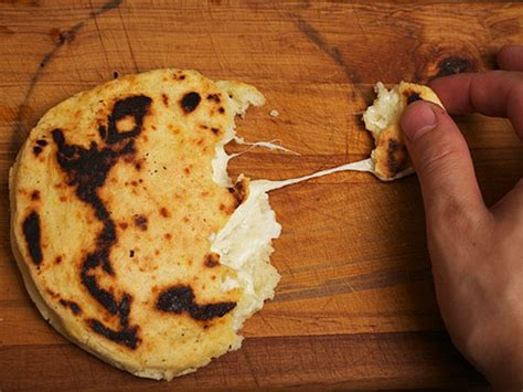 cheese stuffed colombian style arepas recipe  eats