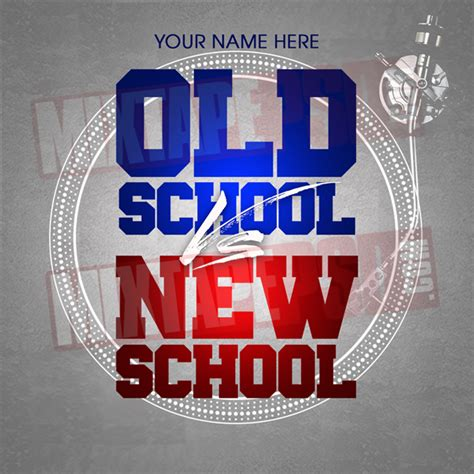 Old School Vs New School Mixtape Psd Mixtapepsdcom