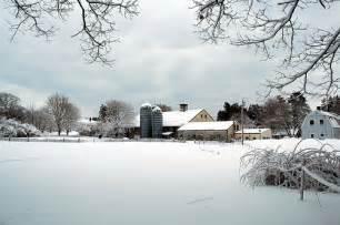 Country Winter Farm Scenes