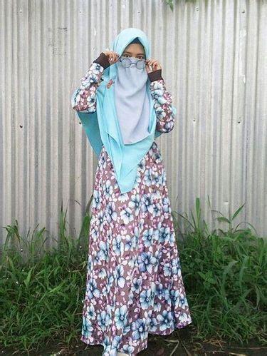 foto gaya hijab bercadar remaja bogor  populer
