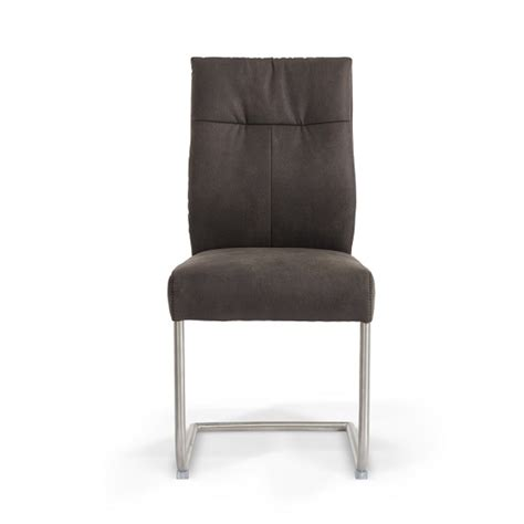 farren cantilever dining chair in anthracite faux leather